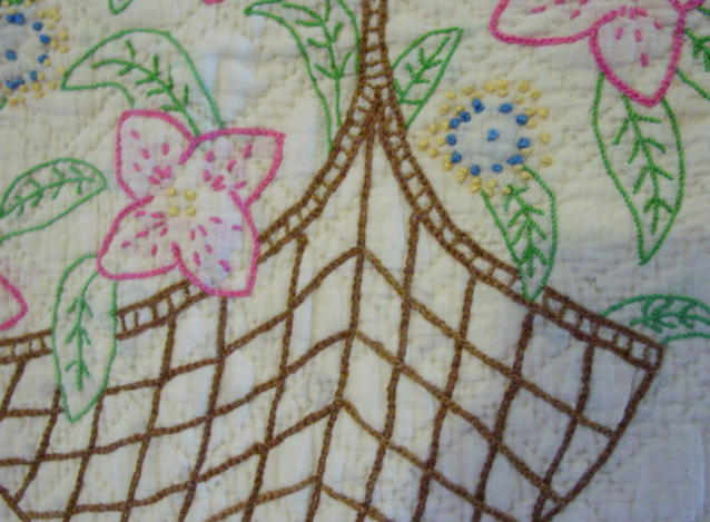 close  view of the quilt -detail