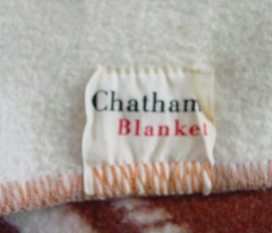 original Chatham label-also shows the whip stitched binding