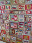 Tobacco/Cigar Flannel Flags Quilt Top  SOLD