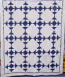 Blue and White Antique Quilt w/ Border-provenance-SOLD