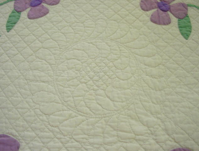 this view shows the quilting