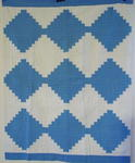 Blue and White Log Cabin Crib Quilt