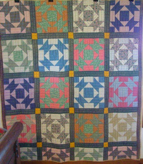full view of Broken Dishes quilt