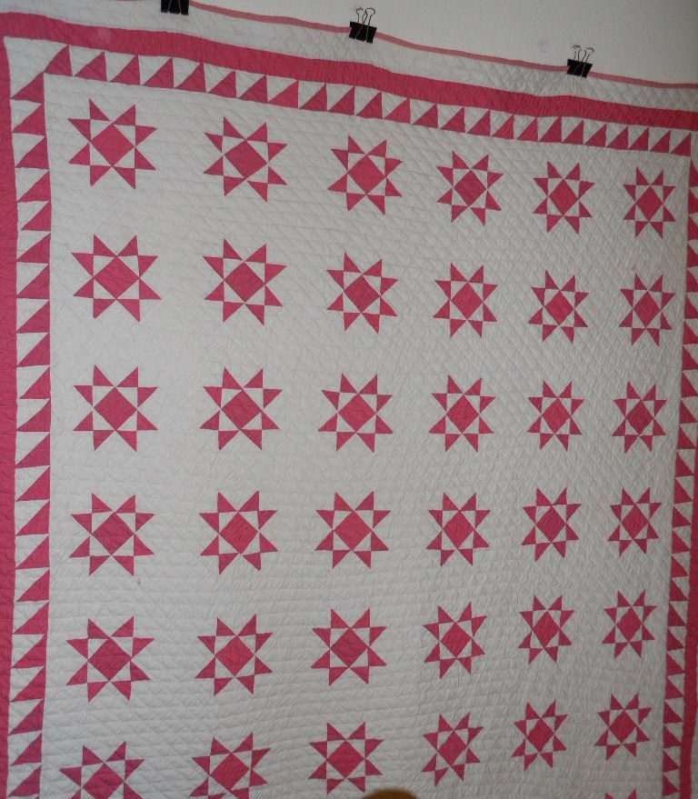 Ohio Stars hand made quilt showing pattern and border