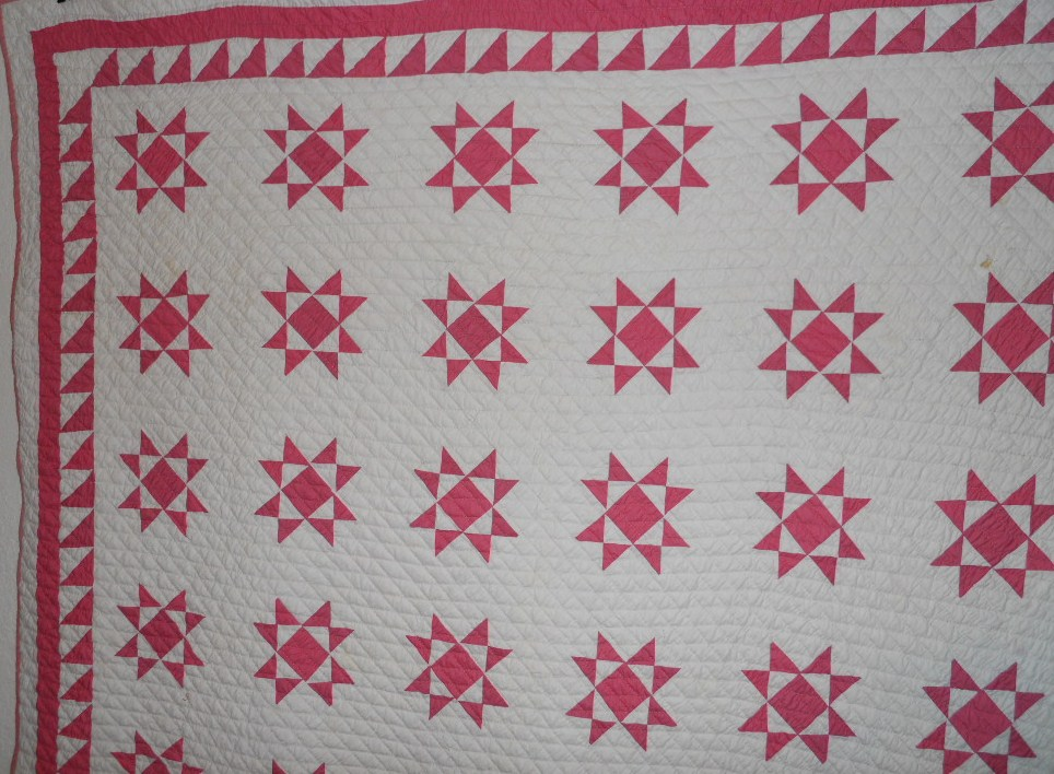 partial view of the quilt