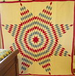 Patriotic Red White and Blue Lone Star Quilt- Exhibited