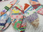 Set of Paper Pieced Elongated Feedsack  Blocks -SOLD