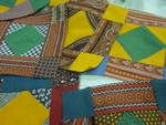 Set of  8 Early Square in a Square Quilt Blocks- SOLD