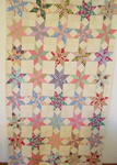 Eight Point Touching Stars Quilt   SOLD