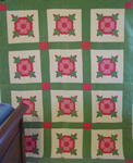 Rose of Sharon Applique Quilt  SOLD