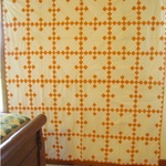 Double Nine Patch Quilt Top-  cheddar