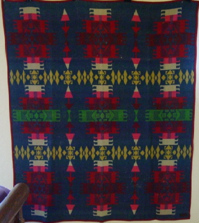 full view of  Pendleton Cayuse Indian trade blanket