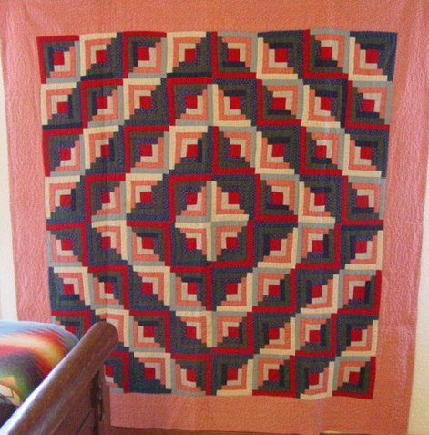 full view of Barn Raising Log Cabin #2 quilt