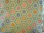 Flower Garden Quilt with Green Trail- Mint SOLD