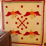 Four Block Applique Eagle Quilt with Border- Exhibited
