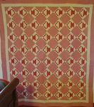 Small Scale Cactus Basket Quilt- Mint $795.00