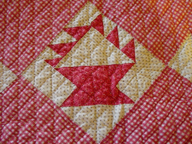 this is the imperfect block- Was sometimes done in quilts because they felt only God was perfect
