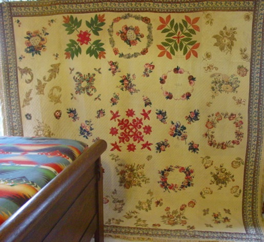 full view of 1847 Broderie Perse Baltimore Signature Quilt