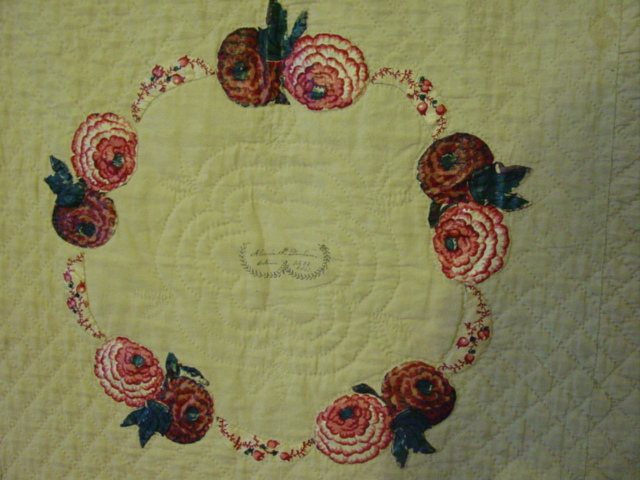block with broderie perse applique- chintz