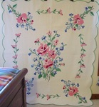 American Beauty Applique Quilt with Border  SOLD