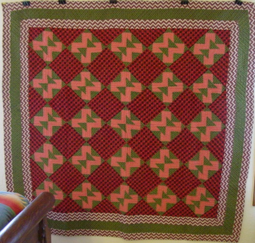 full view of Double E Antique Quilt