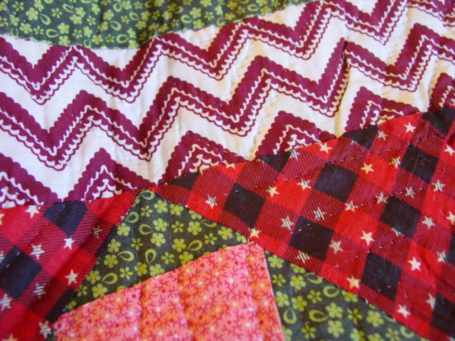 this shows the quality of quilting stitches and fabrics