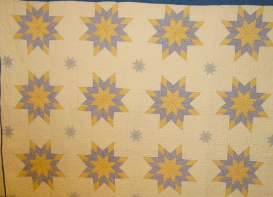 partial view of stars quilt