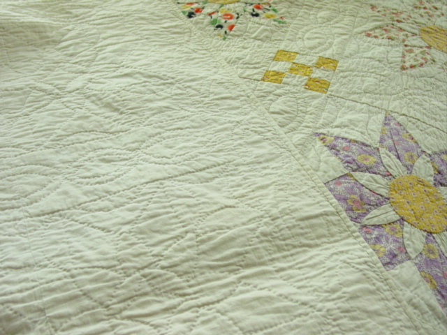 this shows the backside and binding and quilting