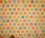 Flower Garden Quilt-small scale with note attached