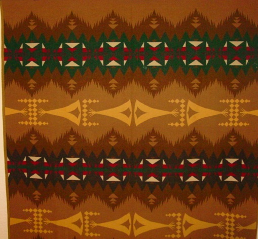 partial view of the Tepee blanket