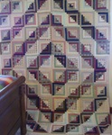 Log Cabin Barn Raising Quilt  Top- Large- SOLD
