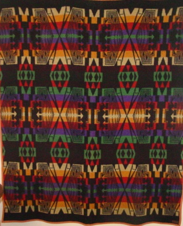 full view of Cayuse Indian Trade blanket