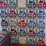 1897 Signed School House Antique Quilt  SOLD
