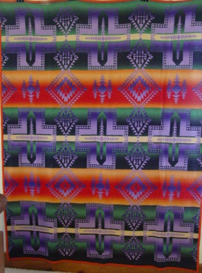 full view of the Ombre Agawam Beacon Blanket