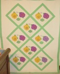 Pansy Applique Quilt #1(one of a pair-selling separate)