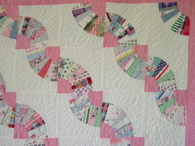 Unusual Snake Trail Fan Quilt Sold Cindy Rennels Antique