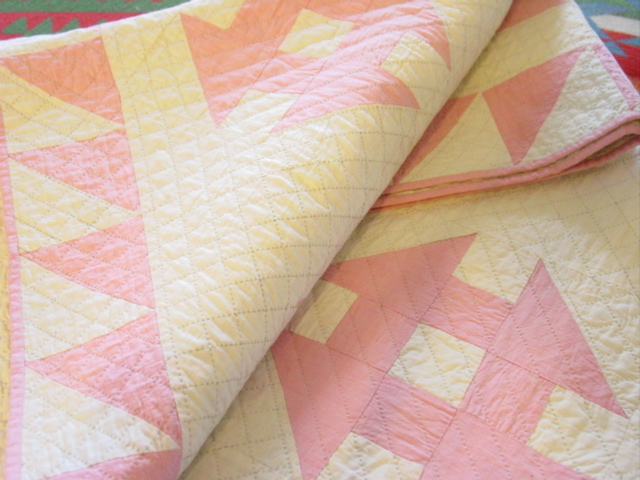 excellent 1920's- 30's quilt- stored and unused