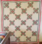 Laurel Leaves Applique Quilt With Borders--SOLD