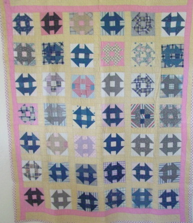 full view of Churn Dash quilt