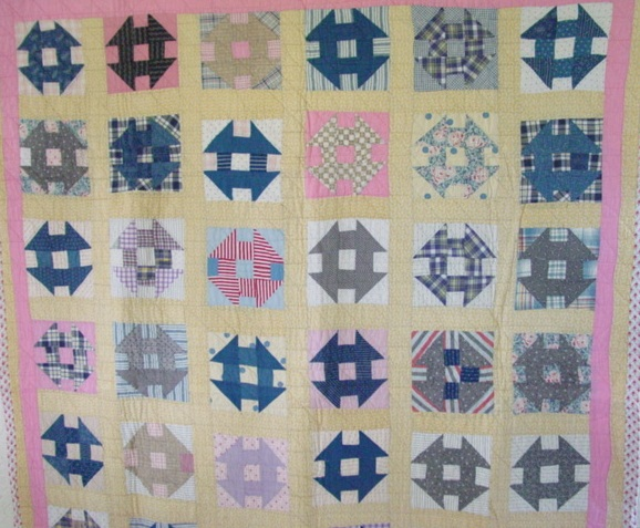closer view of the quilt