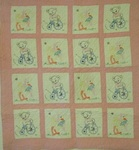 Embroidered Crib Quilt- Ducks and Bears -  SOLD