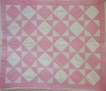 Square in a Square Doll/Crib Quilt- Pink and White