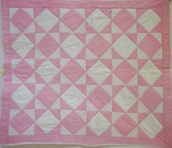 full view of  doll or crib quilt