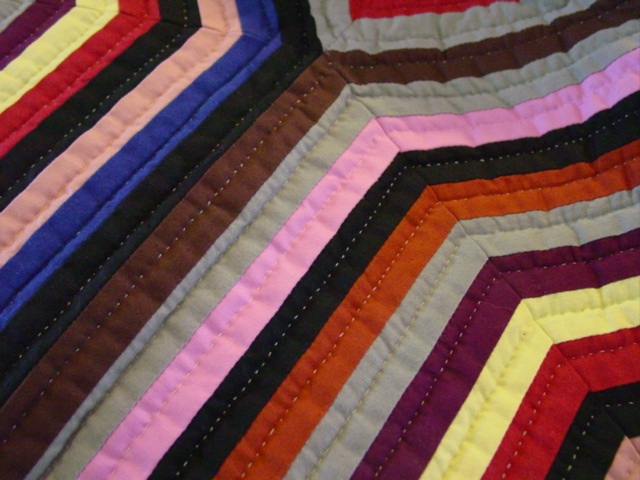 showing colors and quilting