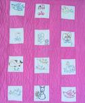 Childrens Small Scale Embroidered Crib Quilt