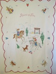 Round-Up Time Western Pictorial Crib Quilt