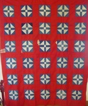 Red-White-Blue Shufly Quilt Top -- SOLD