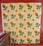 Acorn Bud Applique Quilt- Signed