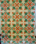 Twelve Block Coxcombs and Currants Applique Quilt-MInt