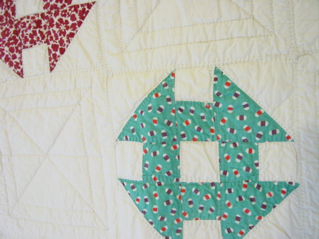 showing the quilting pattern